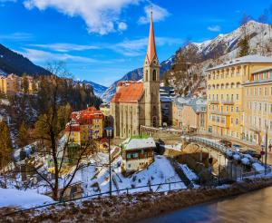 Beautiful view of the village of Gastein