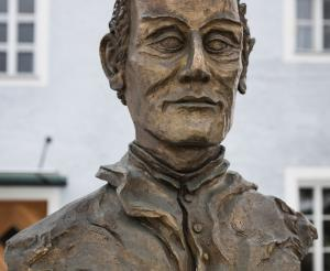 Bueste von Joseph Mohr in Mariapfarr