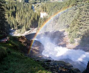 Regenbogen Krimmler Wasserfaelle
