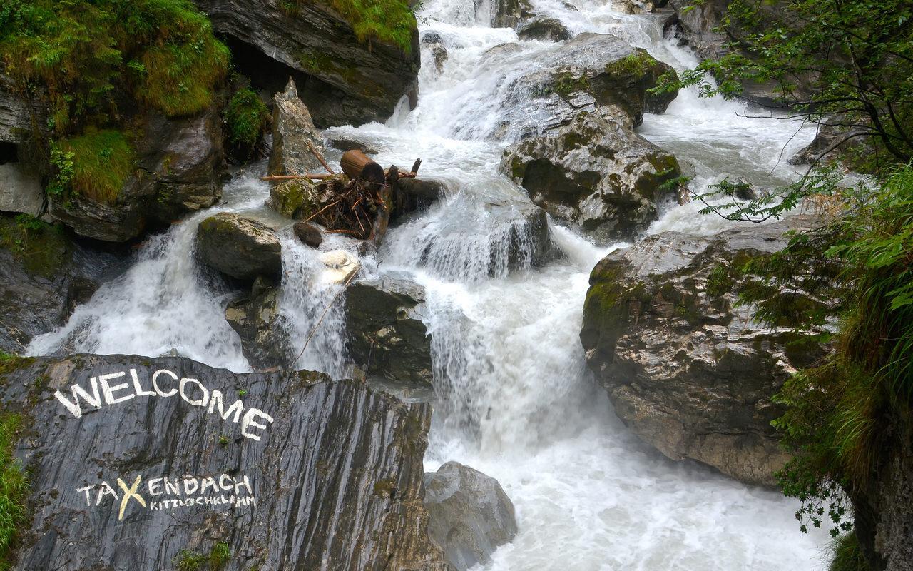 The Kitzlochklamm gorge with path