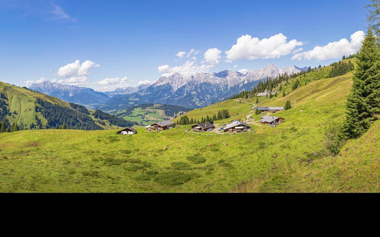Alpine pastures in the Gastein Valley hiking area
