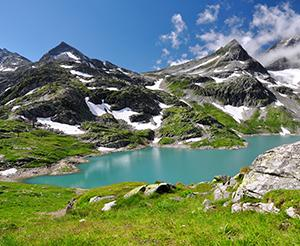Weisssee glacier world in summer