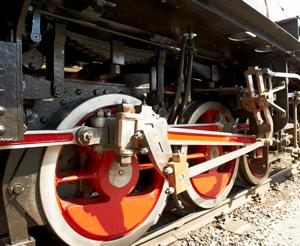 Wheels of the steam engine Taurachbahn