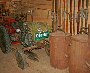 Old tractor in the farm museum