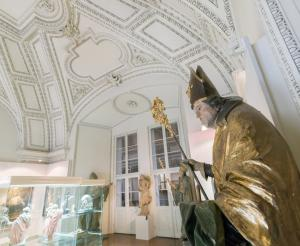 Salzburg Cathedral Museum with statue in the showroom