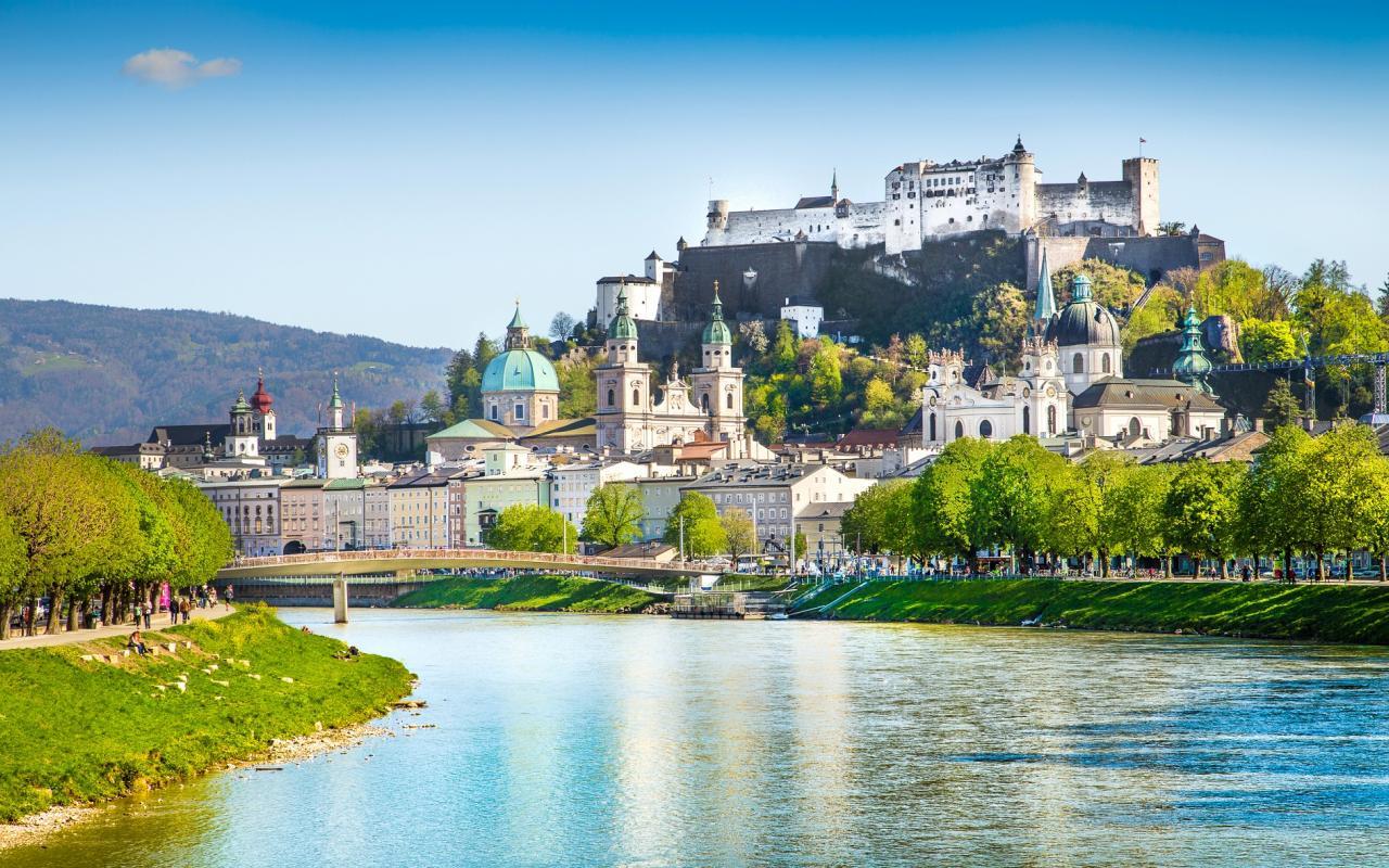 Festung Hohen Salzburg mit Altstadt und Dom