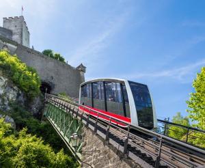 Die Festungsbahn der Burg Hohensalzburg