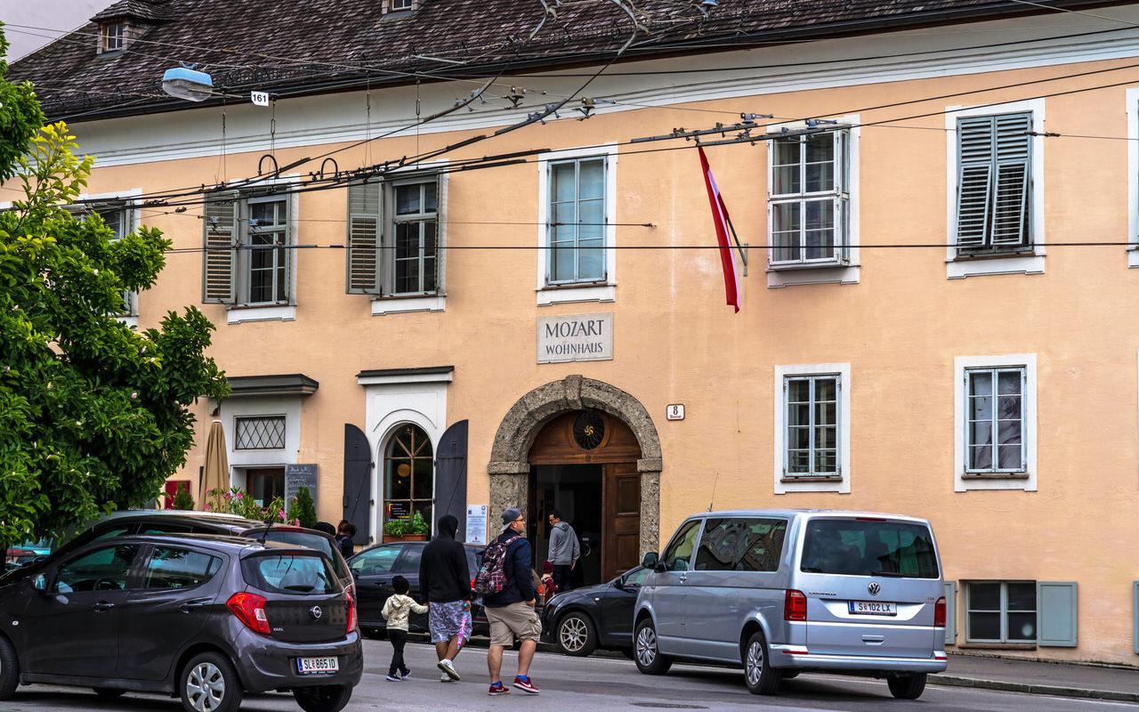 Mozart Wohnhaus vom Makartplatz