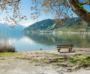 Blick von Thumersbach Richtung Zell am See und Kitzsteinhorn