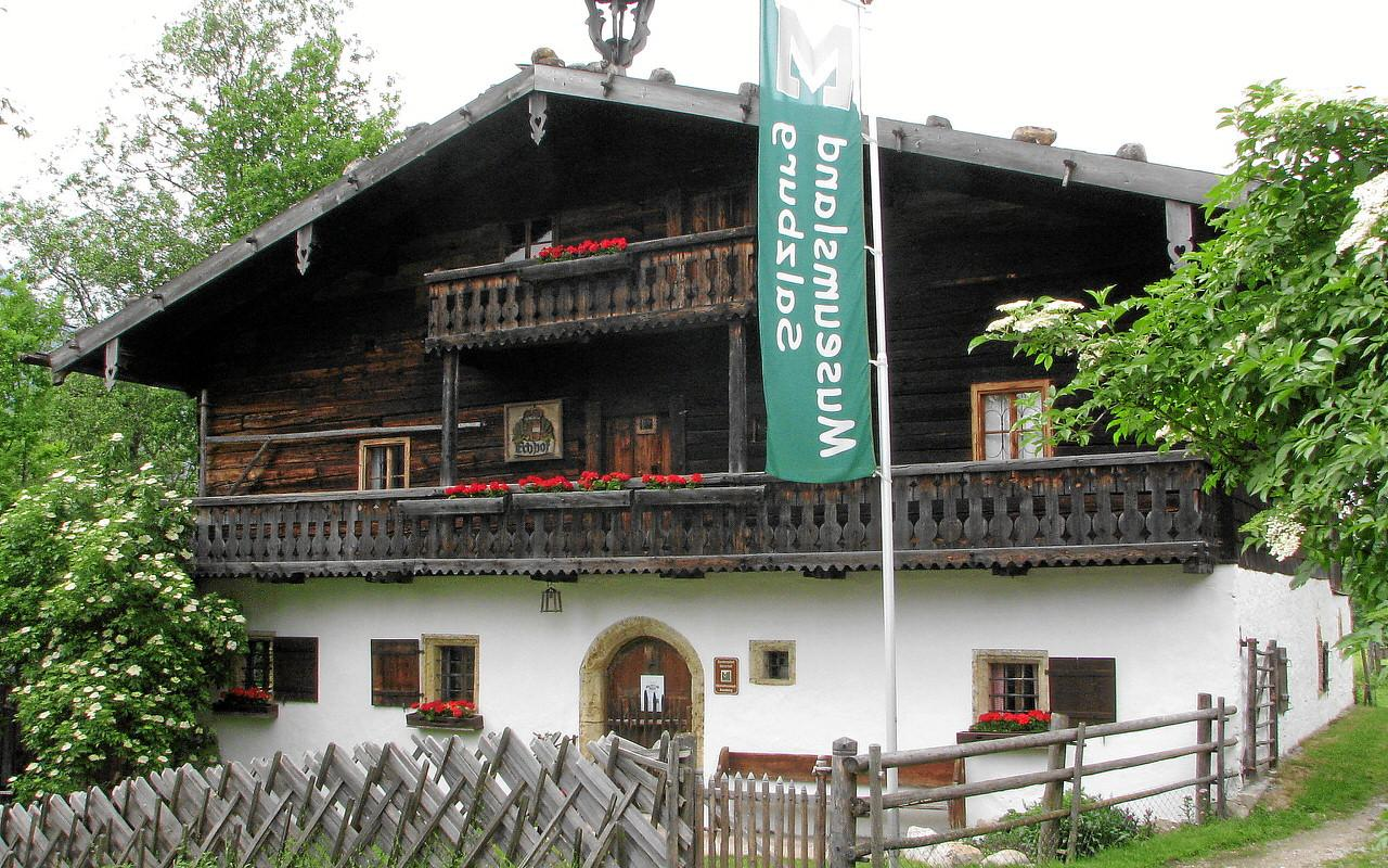 Local history museum Denkmalhof exterior view in summer