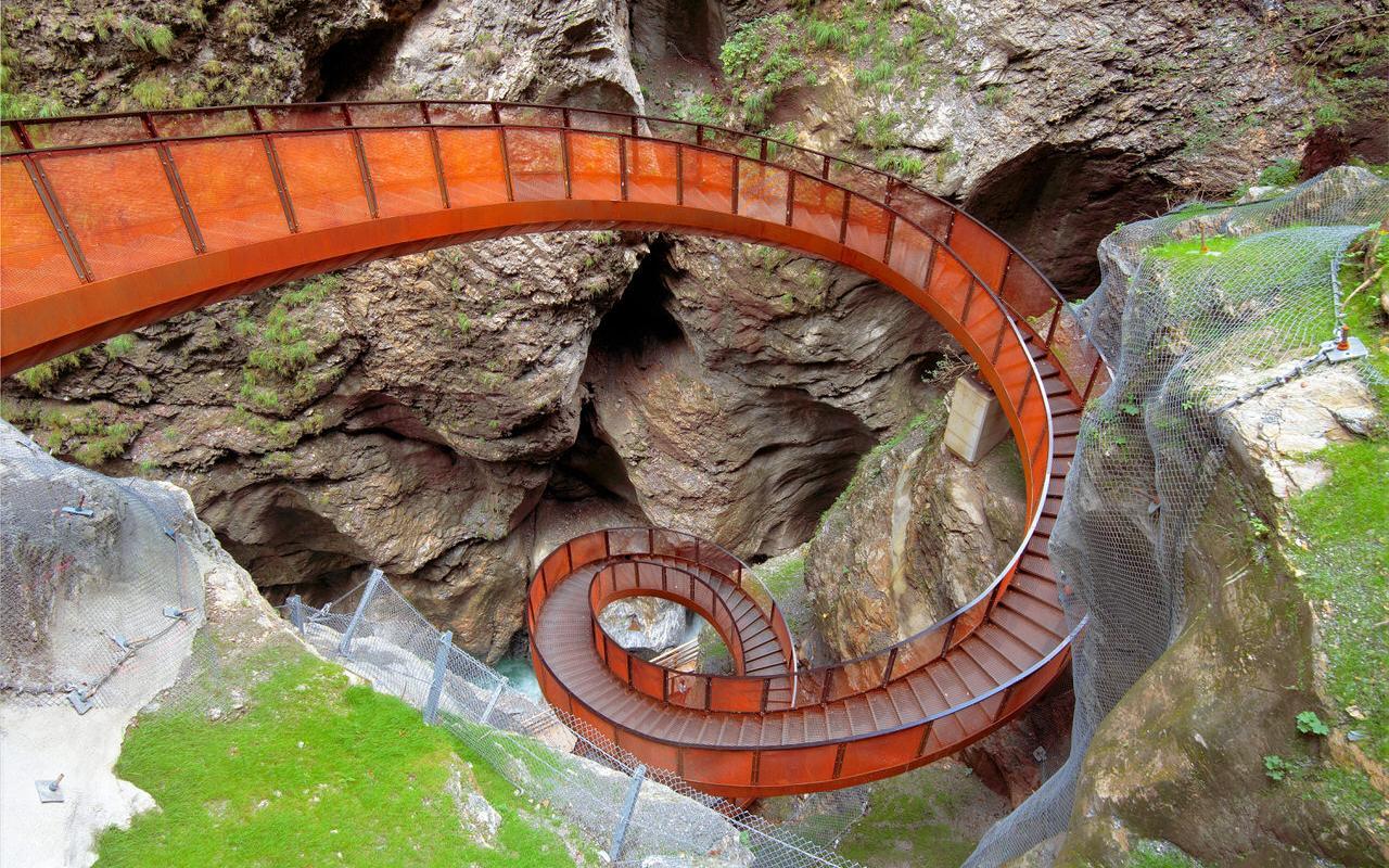 Der Weg durch die Liechtensteinklamm