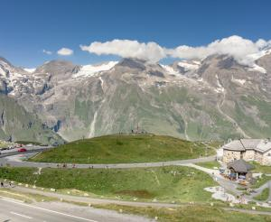 The Grossglockner High Alpine Road in summer with views of the mountains