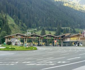 Toll booth on the Grossglockner High Alpine Road in Ferleiten