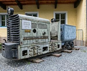 Mine locomotive in the mining museum