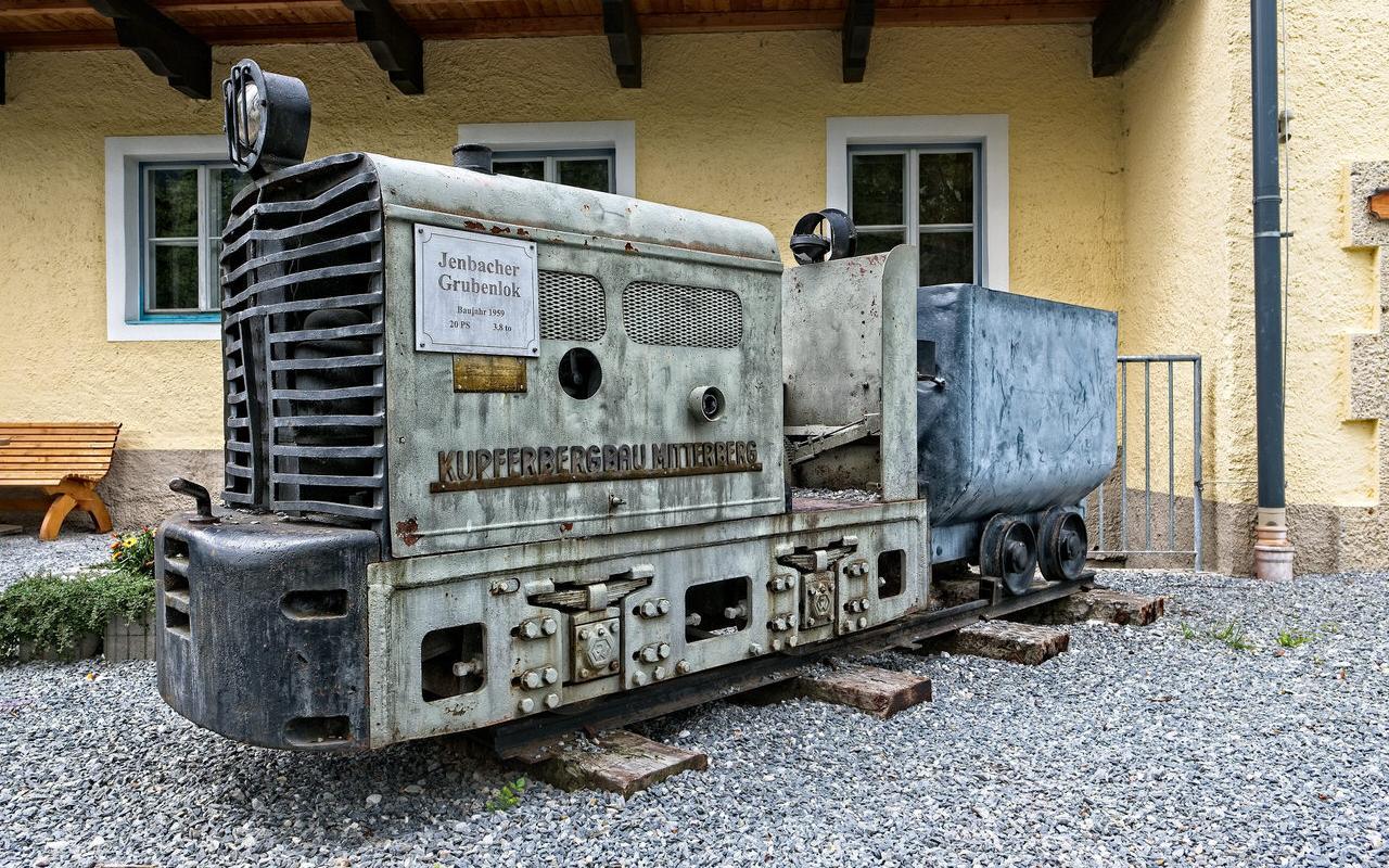 Minenlokomotive im Bergbaumuseum